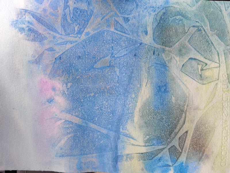 sininen abstrakti maalaus